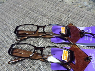 50908b1eb29c FOSTER GRANT +1.50    Beatrice Brown PD64 + - 2MM Reading Glasses ...