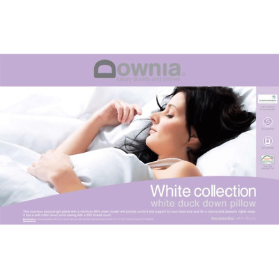 DOWNIA White Collection Duck Down Pillow Washable 5 Year Guarantee RRP199.95