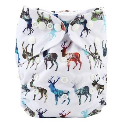 2017 new Baby Pocket Cloth Diaper Nappy Reusable Washable Deer