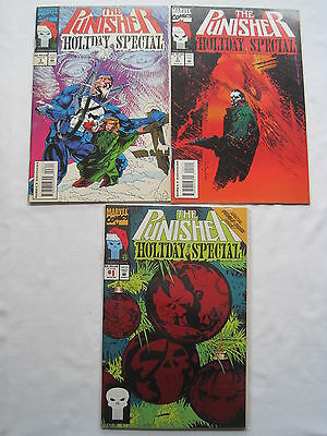 PUNISHER HOLIDAY SPECIAL 1ssues 1 (ENHANCED COVER), 2 & 3. 1993,1994,1995.MARVEL