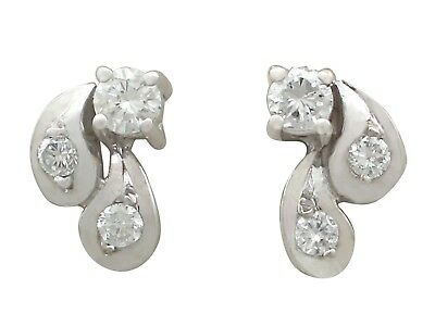 Vintage 1970s 0.33 Ct Diamond and 18Carat White Gold Stud Earrings