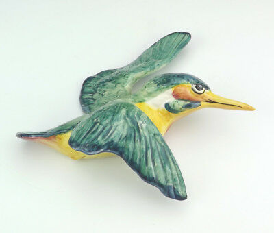 Vintage Beswick Pottery - Hand Painted Kingfisher Bird Wall Plaque - Lovely!