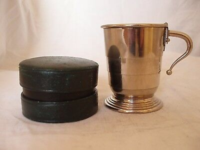 Folding Cup In Box Silver Plated Circa 1910