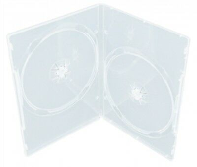 10 SLIM Clear Double DVD Cases 9MM