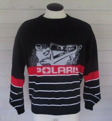 RARE Men's Vintage POLARIS 80's Winterwear Snowmobile Sweater XXL MADE IN USA!