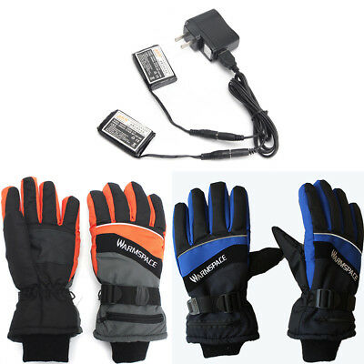Rechargeable Battery Electric Heated Hand Winter Outdoor Work Ski Warmer Gloves