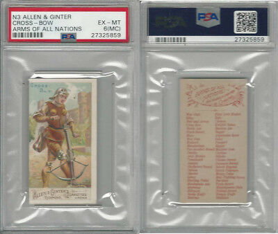 N3 Allen & Ginter, Arms of all Nations, 1887, Cross Bow, PSA 6 MC EXMT