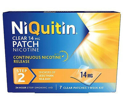NiQuitin 14mg Clear 24 Hour 7 Patch Step 2. FREEPOST