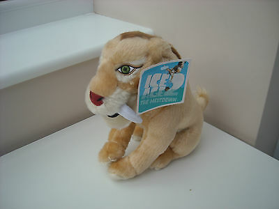 """Ice Age 2 The Meltdown - Diego Sabretooth Tiger 10"""" Plush Toy Brand New"""