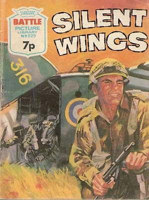 1974  No 829 38510 Battle Picture Library  SILENT WINGS
