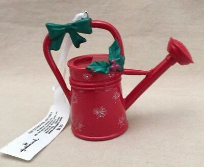 Hallmark Red Watering Can Christmas Ornament