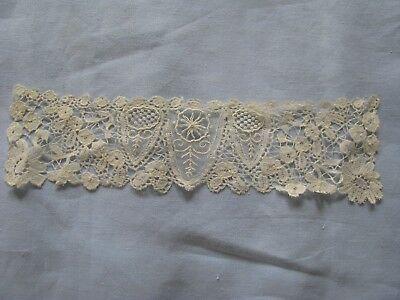 Victorian High Neck Lace Collar Antique Hand Done Steampunk Goth Old Beautiful