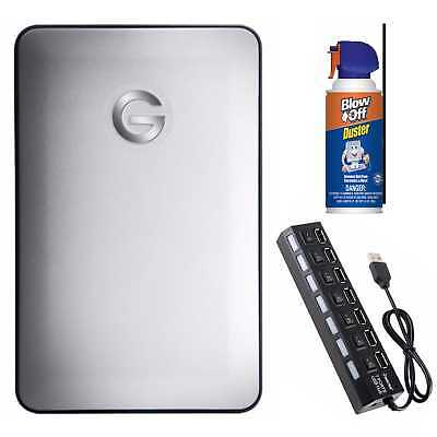 G-Technology G-DRIVE Mobile Portable Hard Drive (1TB/ USB-C) Bundle