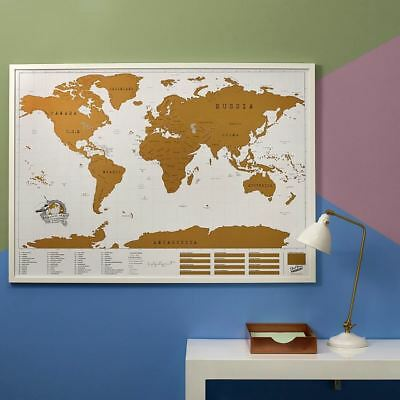 Scratch Map XL Edition by Luckies Giant Wall World Travel Scratch Off Map Tubed