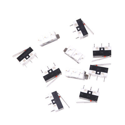 10x KW10 125V 1A 3 Terminals Momentary 13mm Lever Arm Micro Switch BB