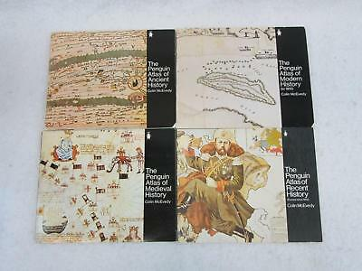 Lot of 4 Colin McEvedy PENGUIN ATLAS OF ANCIENT MEDIEVAL MODERN & RECENT HISTORY