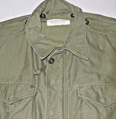 Mens Vintage OD Green US Military Issue FIELD COAT JACKET size M USA
