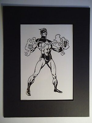 Marvel Gil Kane  Captain Marvel  Pin-Up Or For Cover ? Production Art Acetate