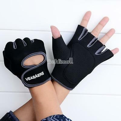 Sport Cycling Fitness GYM Half Finger Weightlifting Gloves Exercise BE0D 02