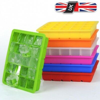 20-Cavity Large Cube Ice Pudding Jelly Maker Mold Mould Tray Silicone Tool Home
