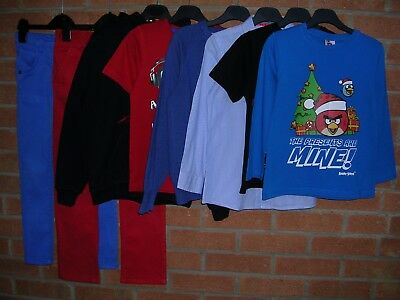 NEXT H&M ANGRY BIRDS etc Boys Bundle Jumpers Jeans Tops T-Shirts Age 6-7 122cm