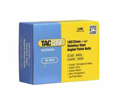 TACWISE 1222 32mm S/S 16g Angled Brads Dewalt DCN660 Paslode IM65