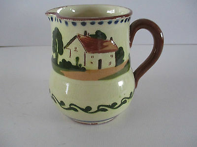 Watcombe Motto Ware Milk Jug - Masters Two Will Never Do