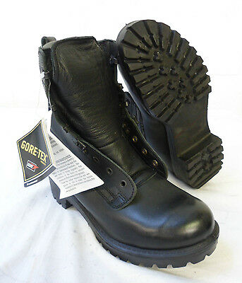 BLACK LEATHER GORE-TEX PRO COMBAT BOOTS - Size 4 & 5 - CADETS , British Army NEW