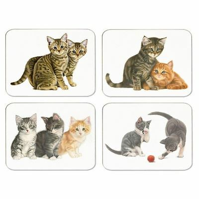Set of 4 Placemats Wipe Clean Cork Backed - Kittens