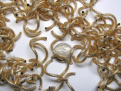 33mm X 2mm PATTERNED GOLD-FILLED CURLY Q BEAD - 100 PIECES - HANDMADE