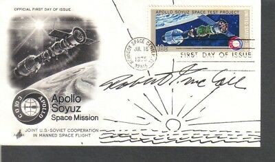 Space Artist Robert McCall signed FDC First Day Cover.