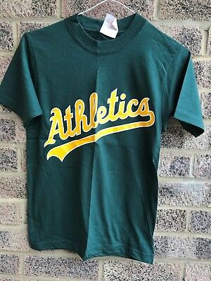 Vintage Oakland Athletics baseball 2 button henley t-shirt MLB Majectic Youth M