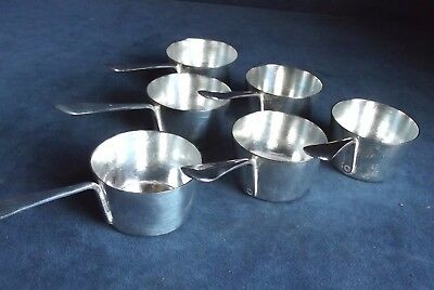 SUPERB Set of SIX ~ SILVER Plated ~ Sauce / Dipping POTS ~ c1900 by Wm HUTTON