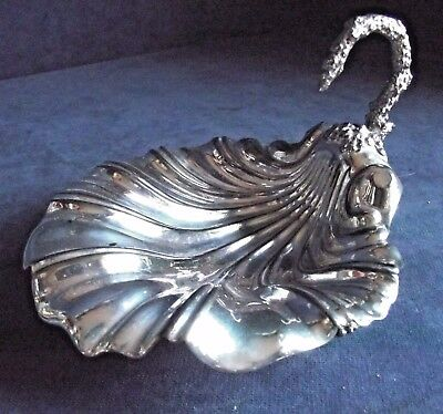 SUPERB Ornate ~ SILVER Plated ~ SCALLOP Shell ~ BON BON Dish ~ c1900