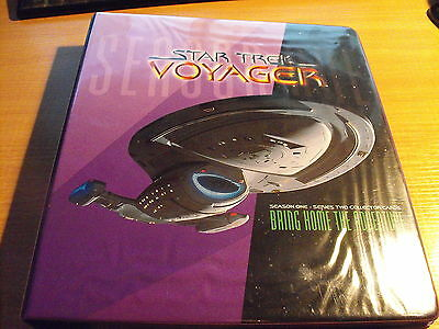 Star Trek Voyager Season 1 Series 2 Master Set In Binder