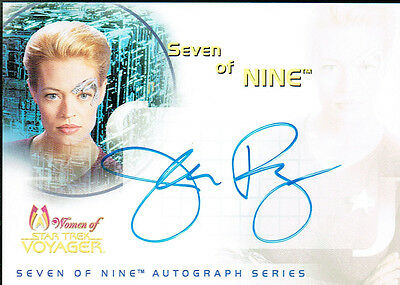 Star Trek Women Of Voyager Auto Card Sa1 Jeri Ryan As Seven Of Nine