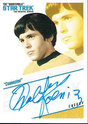 The Quotable Star Trek Autograph Qa4 Chekov 'cossacks!'