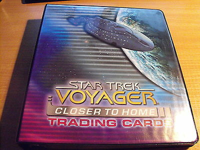 Star Trek Voyager Closer To Home Mini Master Set In Collectors Binder