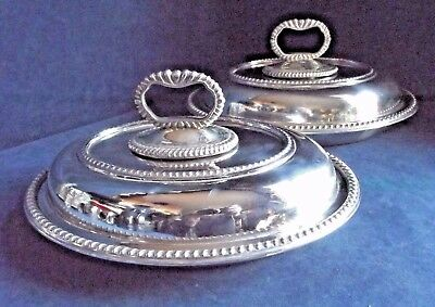 "SUPERB Pair 11"" ~ SILVER Plated ~ SERVING DISHES ~ c1900 by Alexander Clarke"