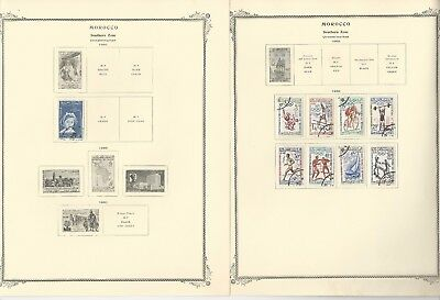 Morocco Collection 1956-1964 on 14 Scott Specialty Pages