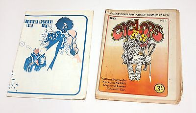 RARE - CYCLOPS & DOPED CROW MAGAZINES / PAPERS (1970s) - COUNTER CULTURE