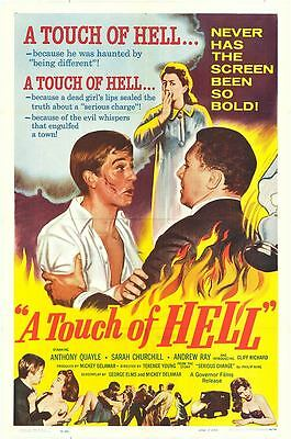 A TOUCH OF HELL/SERIOUS CHARGE orig movie poster CLIFF RICHARD/SARAH CHURCHILL