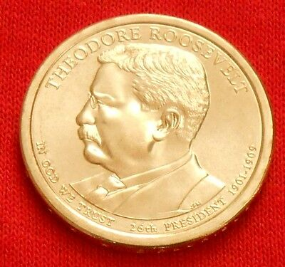 2013 Theodore Roosevelt Presidential $1 Coin, D, Denver Mint, Free Shipping