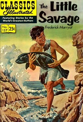 Classics Illustrated 137 The Little Savage #7 1970 VG 4.0 Stock Image Low Grade