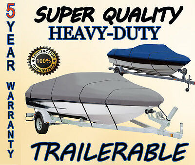 Stratos 278 Dual Console 1995-1996 Boat Cover Trailerable Heavy-Duty 600D