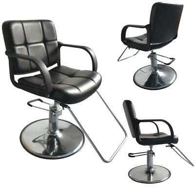 Black Fashion All Purpose Hydraulic Reclining Barber Salon Chairs Shampoo Spa 3W