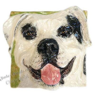 American Staffordshire Terrier Pit Bull Dog Tile RELIEF EFFORT FOR MOM Alexander