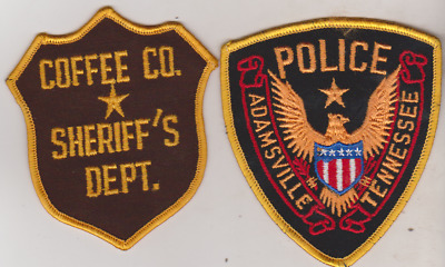 Coffee County TN Sheriff & Adamsville TN Police patches
