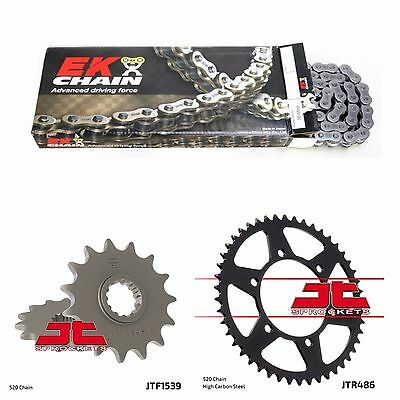 2008 - 2012 Kawasaki 250R Ninja EK o ring chain and JT steel sprocket kit 15/42