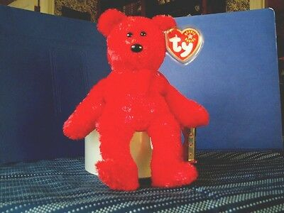 TY Beanie Baby babies bear Sizzle Valentines Day 8-25-2001 retired mint tags